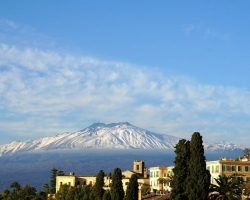 Vulkan Aetna auf Sizilien