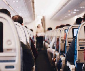 Flugzeugkabine Sitzplaetze