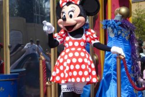 Minnie Mouse in Disneyland