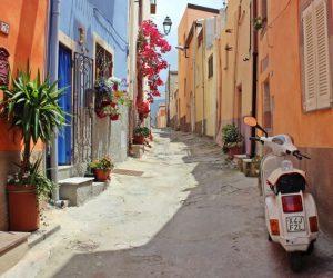 Vesparoller in Italien: Ferienhaus Gardasee